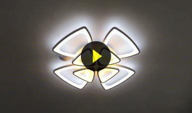 Đèn mâm led 8 cánh đèn trang trí ốp trần