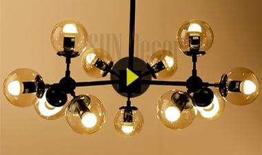 Đèn trang trí, đèn decor ondric 10 bóng