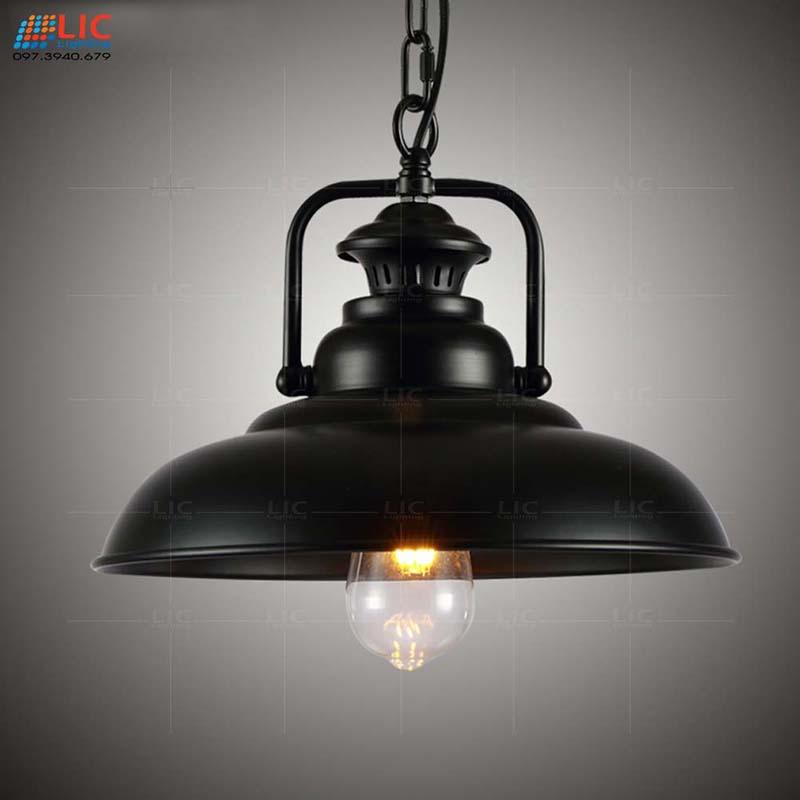 Đèn Thả Trang Trí Sắt Đen 8686