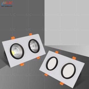 Đèn Downlight Đôi 2*7W/12W (D120x230)
