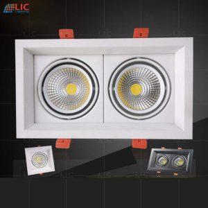 Đèn Downlight Đôi 2*7W/12W (D145x255)