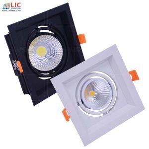 Đèn Downlight Âm Vuông 7w/10w/12w (D145mm)