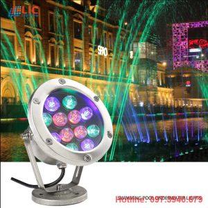 Đèn Âm Nước RGB 3w-6w-9w-12w-18w Nguồn AC24V