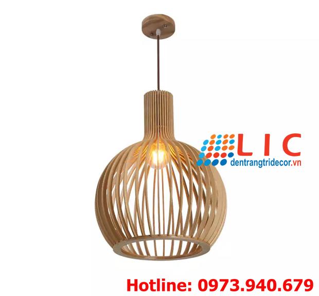 Đèn Trang Trí Lồng Chim Gỗ Lic LG400