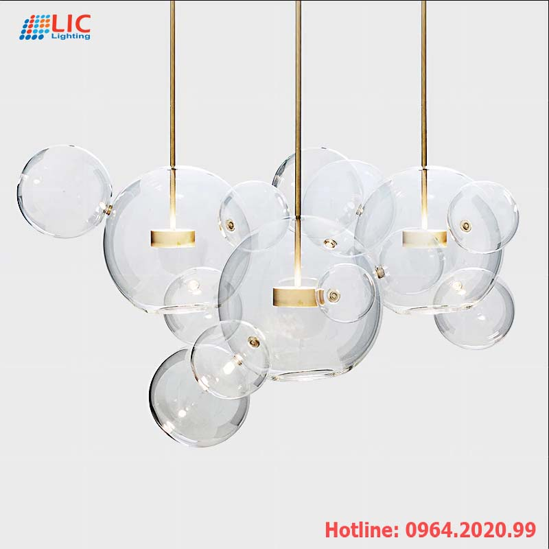 Đèn Thả Thủy Tinh Dáng Bóng Nước +4 TH214 Lic