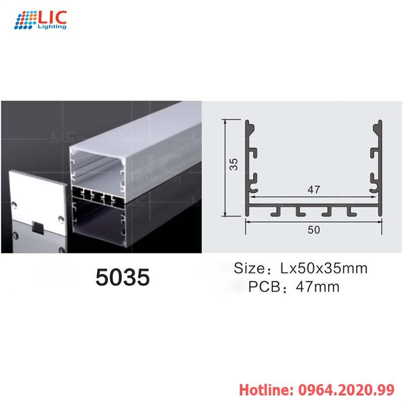 Thanh Nhôm Định Hình U5035-Dán Led
