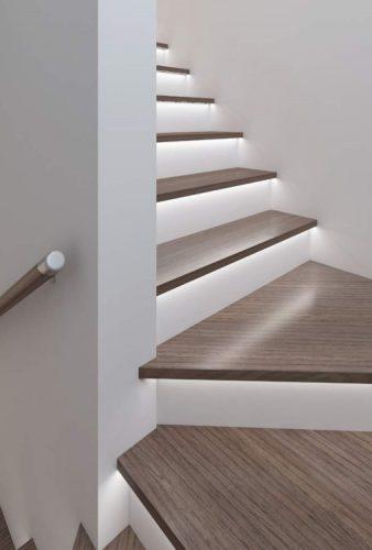lắp đặt đèn led thanh nhôm cho cầu thang