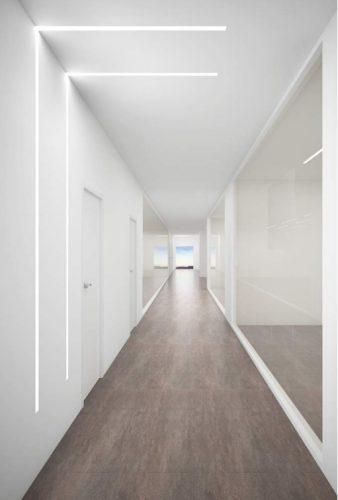 lắp đặt đèn led thanh nhôm cho hành lang
